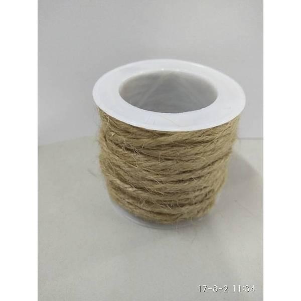 PandaHall Hemp Cord, Hemp String, Hemp Twine, for Jewelry Making, Tan, 2mm; 10m/roll Burlap Orange