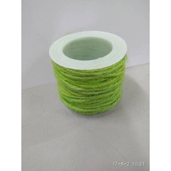 PandaHall Hemp Cord, Hemp String, Hemp Twine, for Jewelry Making, GreenYellow, 2mm; 10m/roll Burlap Green