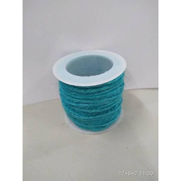 PandaHall Hemp Cord, Hemp String, Hemp Twine, for Jewelry Making, DarkTurquoise, 2mm; 10m/roll Burlap Cyan