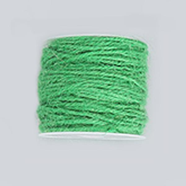 PandaHall Hemp Cord, Hemp String, Hemp Twine, for Jewelry Making, Green, 2mm; 50m/roll Burlap Green