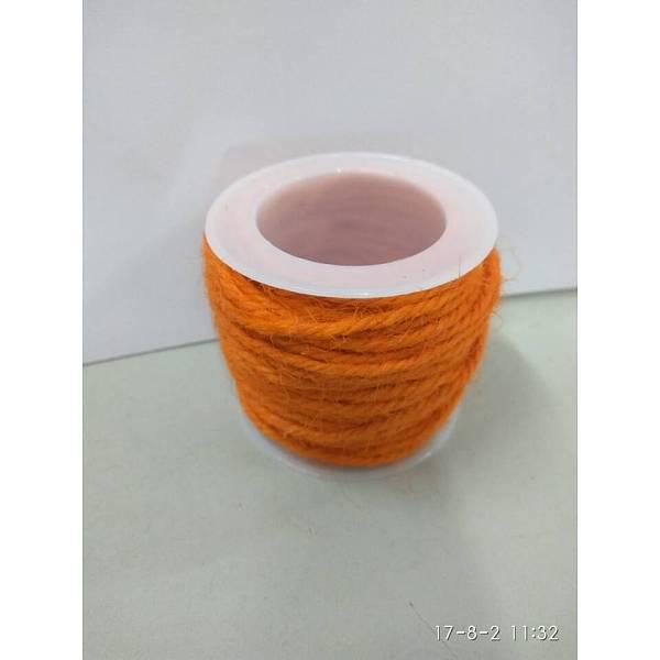 PandaHall Hemp Cord, Hemp String, Hemp Twine, for Jewelry Making, OrangeRed, 2mm; 10m/roll Burlap Red