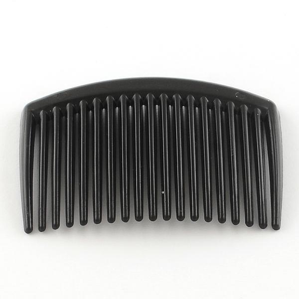 PandaHall Hair Accessories Plastic Hair Comb Findings, Black, 45~45.5x65~66x3~4mm Plastic Black