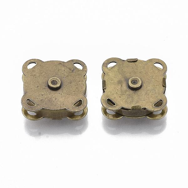 PandaHall Iron Purse Snap Clasps, Closure for Purse Handbag, Antique Bronze, 19x19x7mm, Hole: 1.5x2mm Iron (X-IFIN-R203-68AB) photo