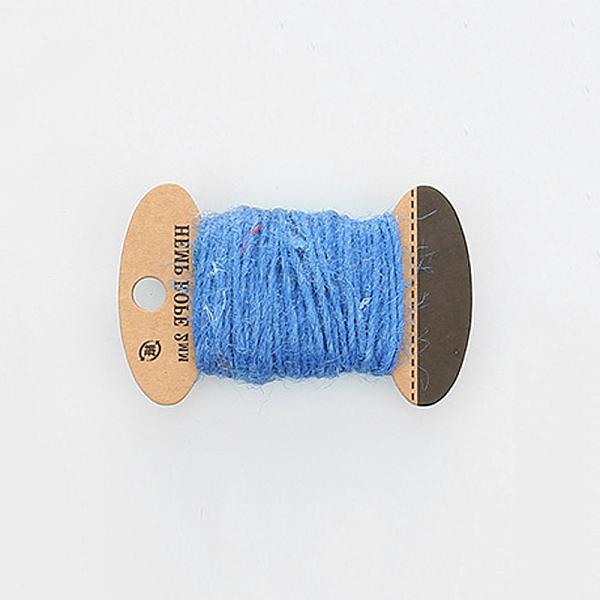 PandaHall Hemp Cord Twine String, 3 Ply, for Jewelry Making, DodgerBlue, 2mm; 10m/board Hemp Blue