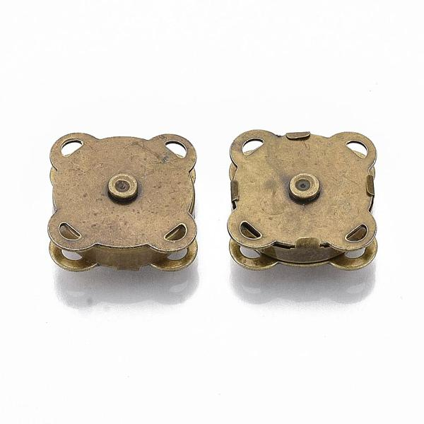 PandaHall Iron Purse Snap Clasps, Closure for Purse Handbag, Antique Bronze, 19x19x7mm, Hole: 1.5x2mm Iron (IFIN-R203-68AB) photo