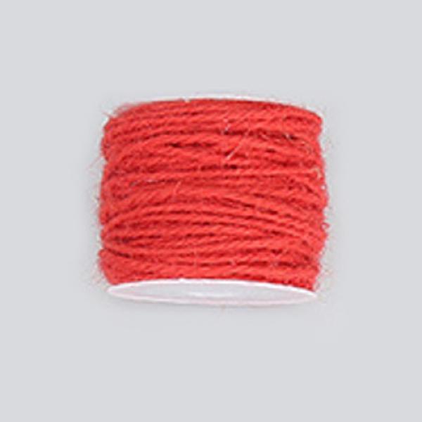 PandaHall Hemp Cord, Hemp String, Hemp Twine, for Jewelry Making, Crimson, 2mm; 50m/roll Burlap Pink