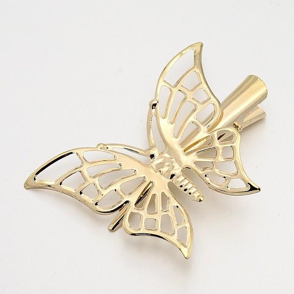 Sweet Butterfly Design Gold Left Hair Grip