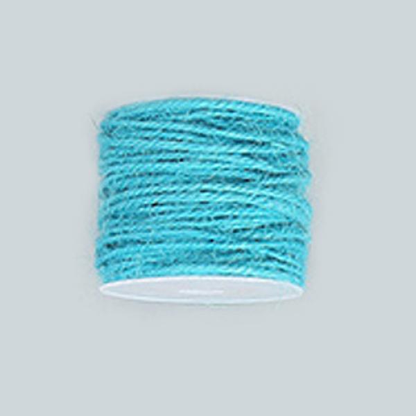 PandaHall Hemp Cord, Hemp String, Hemp Twine, for Jewelry Making, DarkTurquoise, 2mm; 50m/roll Burlap Cyan