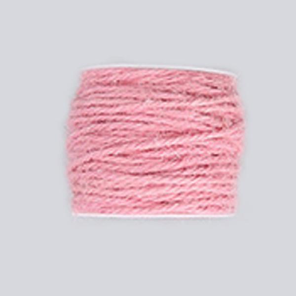 PandaHall Hemp Cord, Hemp String, Hemp Twine, for Jewelry Making, Pink, 2mm; 50m/roll Burlap Pink