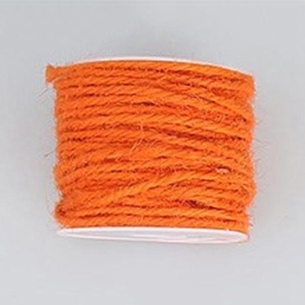 PandaHall Hemp Cord, Hemp String, Hemp Twine, for Jewelry Making, OrangeRed, 2mm; 50m/roll Burlap Red