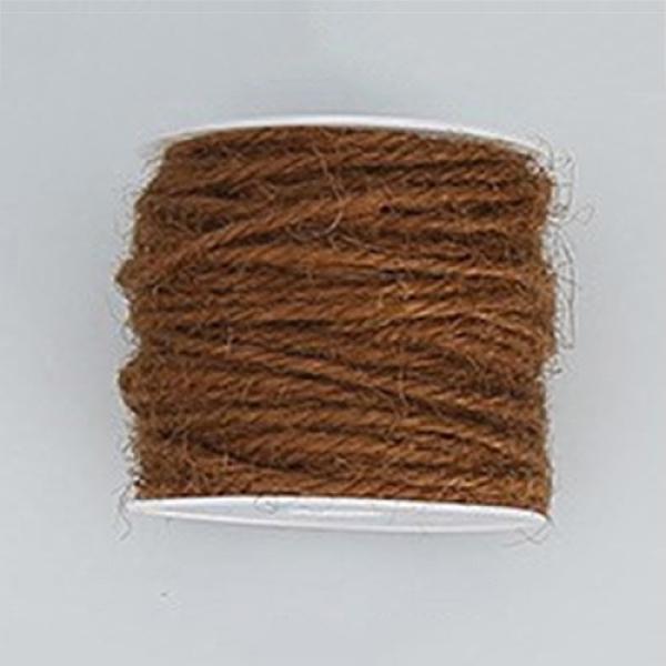 PandaHall Hemp Cord, Hemp String, Hemp Twine, for Jewelry Making, CoconutBrown, 2mm; 50m/roll Burlap Brown