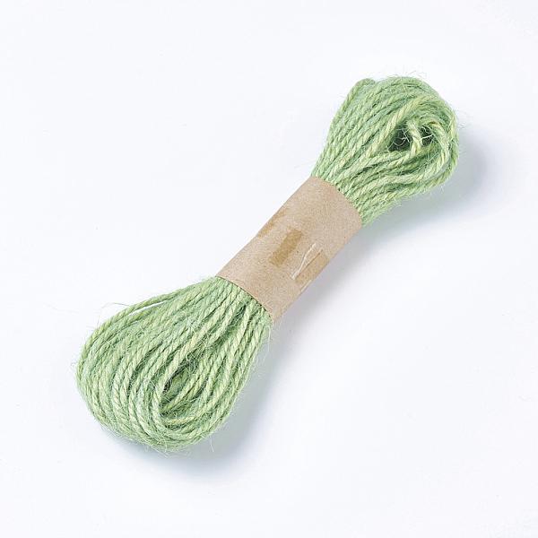 PandaHall Hemp Cord Twine String, for Jewelry Making, Lime, 1.5~2mm; 10m/bundle Hemp Green