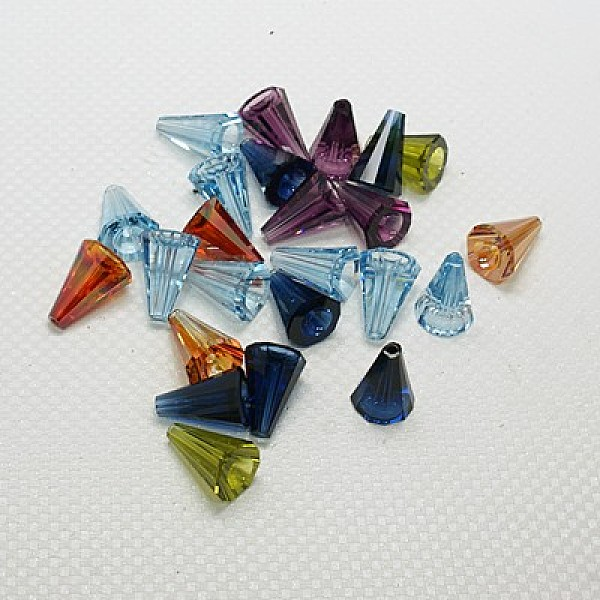 PandaHall Austrian Crystal Beads, Faceted, 5540 Artemis, Mixed Color, 17x17x1.5mm, Hole: 1.5mm Austrian Crystal