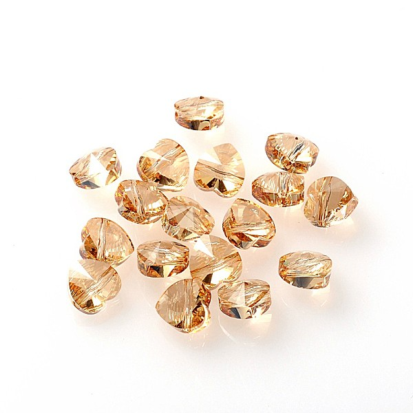 PandaHall Austrian Crystal Beads, Mother's Day Jewelry Making, 001GSHA_Crystal Golden Shadow, 8x8mm, Hole: 1mm Austrian Crystal