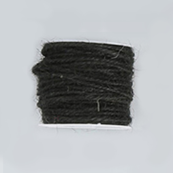 PandaHall Hemp Cord, Hemp String, Hemp Twine, for Jewelry Making, Black, 2mm; 50m/roll Burlap Black