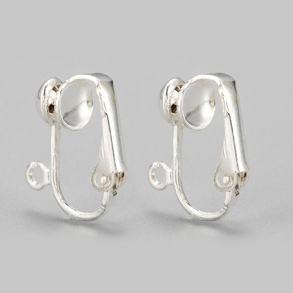 Pierced Geometric Design Red Metal Earring Set