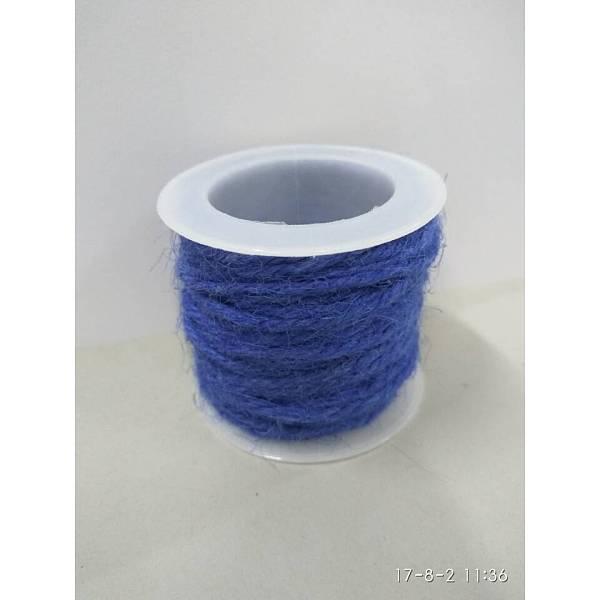 PandaHall Hemp Cord, Hemp String, Hemp Twine, for Jewelry Making, RoyalBlue, 2mm; 10m/roll Burlap Blue