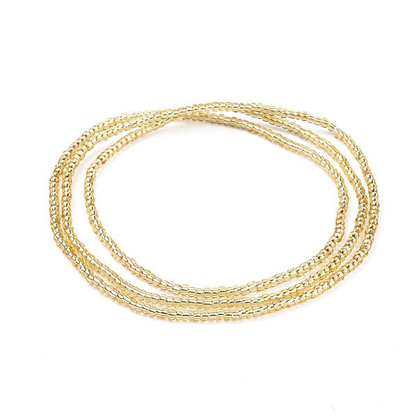 Round Bead Detail Gold Metal Waist Chain