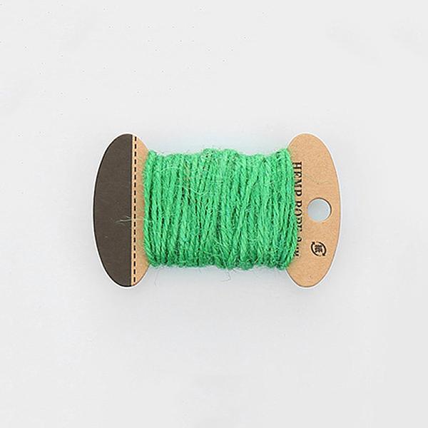 PandaHall Hemp Cord, Hemp String, Hemp Twine, 3 Ply, for Jewelry Making, SpringGreen, 2mm; 10m/board Jute Green