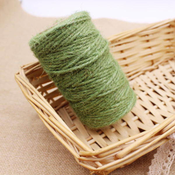 PandaHall Hemp Cord, Hemp String, Hemp Twine, for Jewelry Making, DarkSeaGreen, 3mm; about 50m/roll Burlap Green