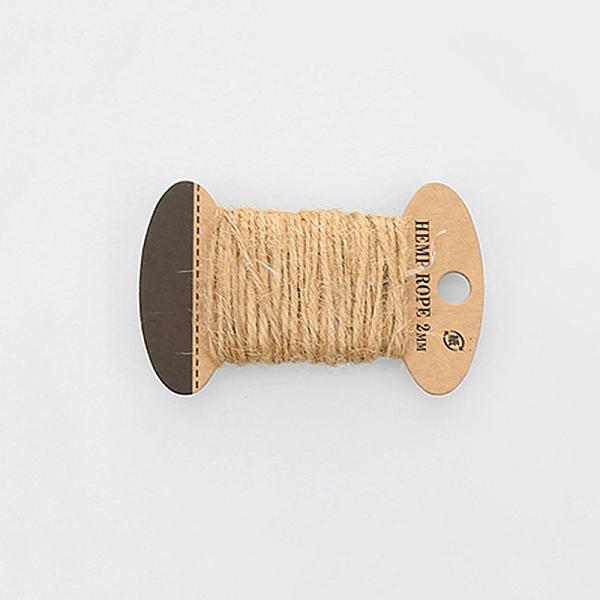 PandaHall Hemp Cord Twine String, 3 Ply, for Jewelry Making, Tan, 2mm; 10m/board Hemp Orange