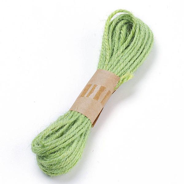 PandaHall Hemp Cord Twine String, for Jewelry Making, 3-Ply, LightGreen, 2mm; 10yard/bundle Hemp Green