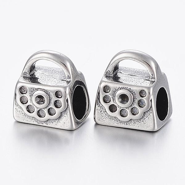 10.5 X 1.5 X 18cm Silver Rhinestone Handbag