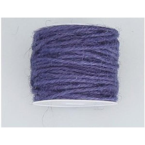 PandaHall Hemp Cord, Hemp String, Hemp Twine, for Jewelry Making, Mauve, 2mm; 10m/roll Burlap Purple