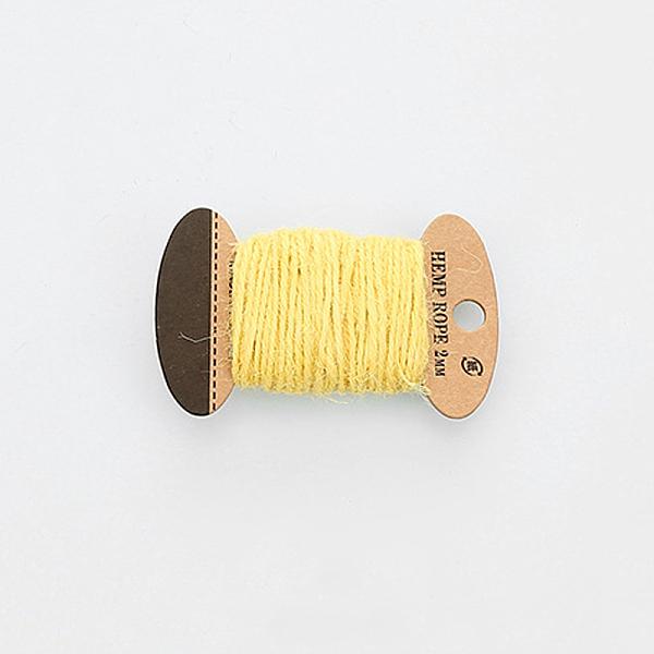 PandaHall Hemp Cord, Hemp String, Hemp Twine, 3 Ply, for Jewelry Making, ChampagneYellow, 2mm; 10m/board Jute Yellow