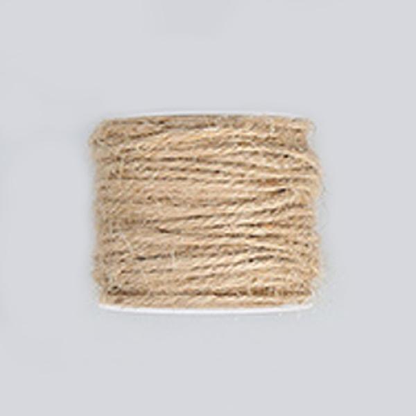 PandaHall Hemp Cord, Hemp String, Hemp Twine, for Jewelry Making, Tan, 2mm; 50m/roll Burlap Orange