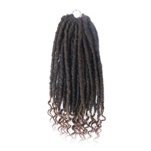 Pandahall Curly Faux Locs Crochet Hair With Curly Ends Crochet Goddess Locs Synthetic Braids Hair Extensions Low Temperature Heat Shefinds