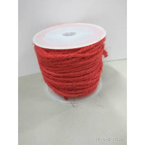 PandaHall Hemp Cord, Hemp String, Hemp Twine, for Jewelry Making, Crimson, 2mm; 10m/roll Burlap Pink